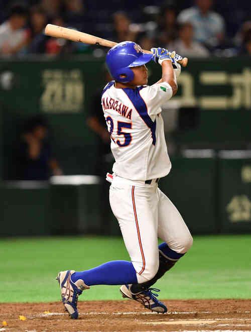 7回裏NTT東日本無死、桝沢は中越えに本塁打を放つ(撮影・柴田隆二)