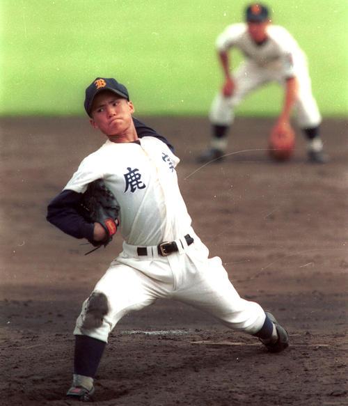 鹿児島実時代の杉内(1998年7月21日撮影)