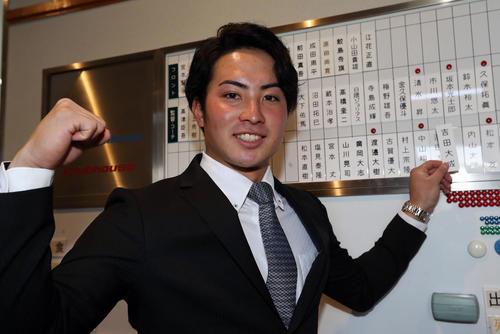 入寮時のヤクルトヤクルトドラフト8位の吉田大成