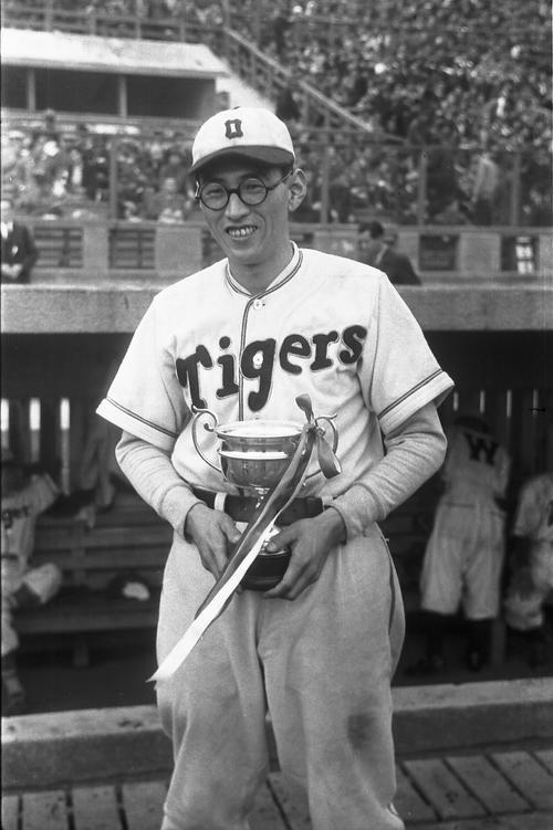 大阪タイガースの別当薫(1948年11月20日撮影)
