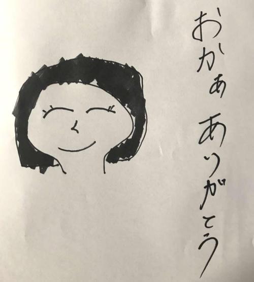巨人大城が描いた母の似顔絵