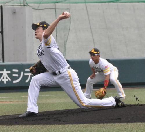 ウエスタン・リーグ ソフトバンク対阪神 先発したソフトバンク和田