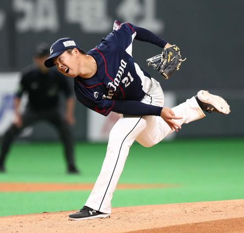 十亀剣投手(2019年5月12日撮影)