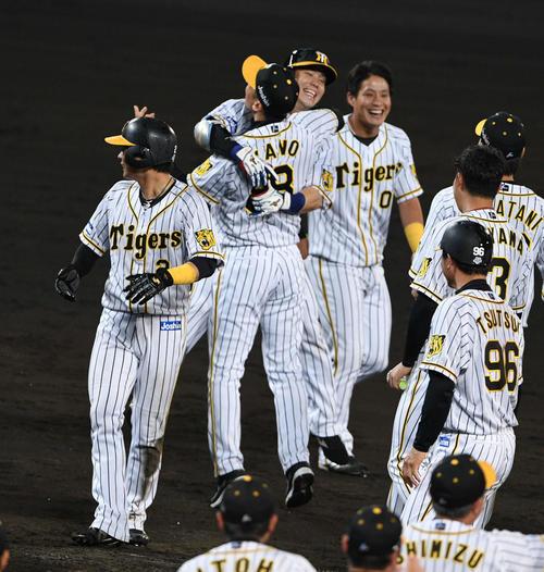 阪神4度目サヨナラ、1点差での最大連勝は5試合