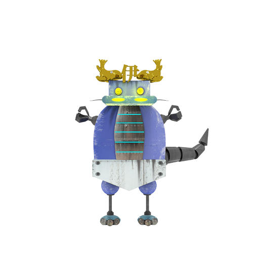 ロッテの作成した交流戦中日ロボットのイメージ