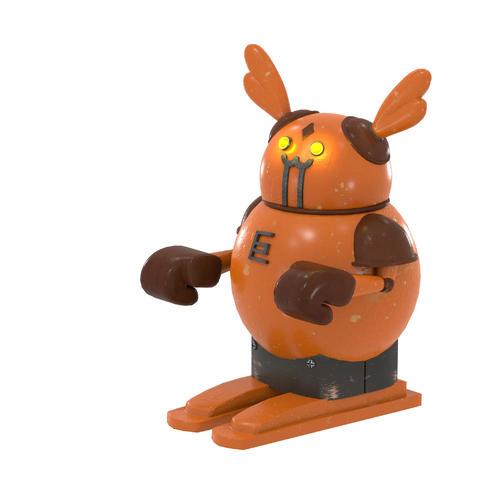 ロッテの作成した交流戦巨人ロボットのイメージ