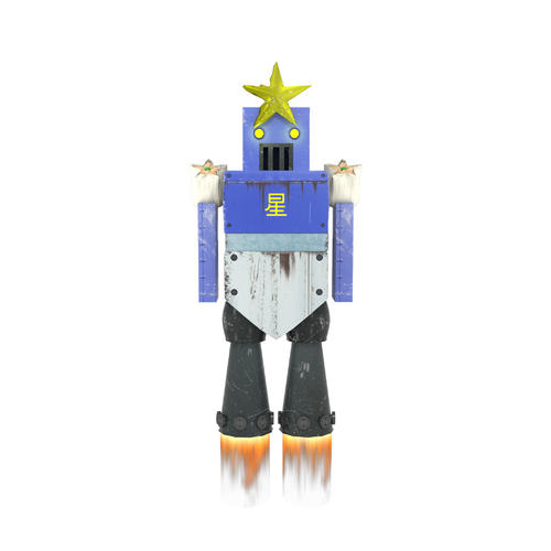 ロッテの作成した交流戦DeNAロボットのイメージ