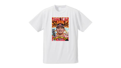 受注販売を開始したグランドスラム江村Tシャツ