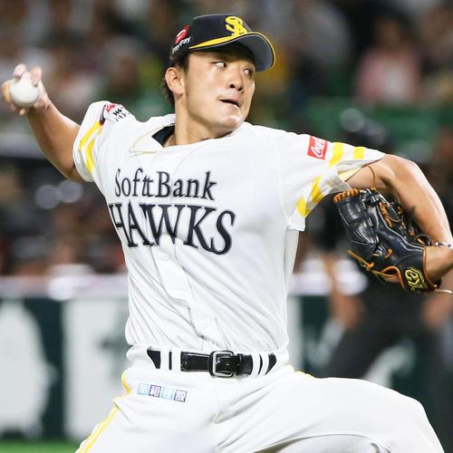 4番手で登板する松田遼(撮影・栗木一考)