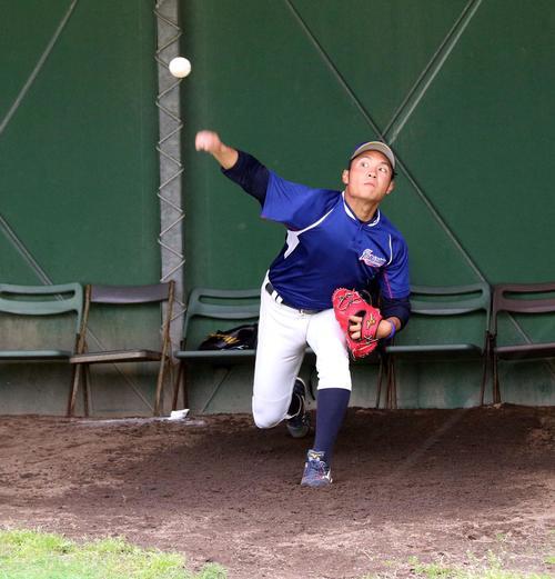 2年連続で日米大学選手権に出場する苫小牧駒大のエース伊藤(撮影・永野高輔)