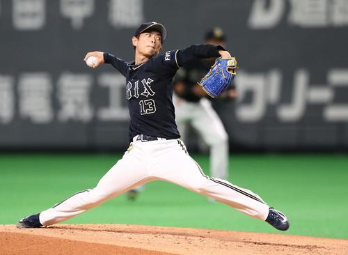 オリックス山岡泰輔(2019年8月7日撮影)