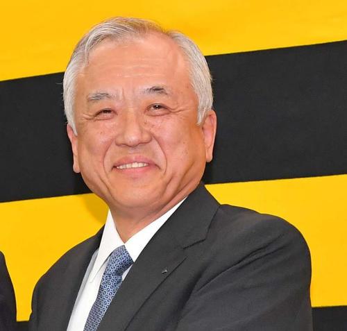 阪神藤原崇起オーナー(2018年10月16日撮影)