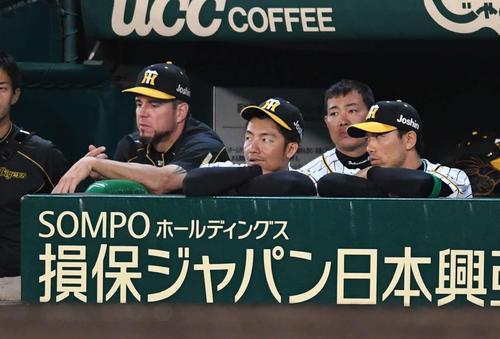 連続試合出場が「1939」でストップする阪神鳥谷(2018年5月29日)