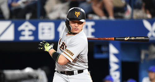 丸は右越え2点本塁打を放つ(2019年9月12日)