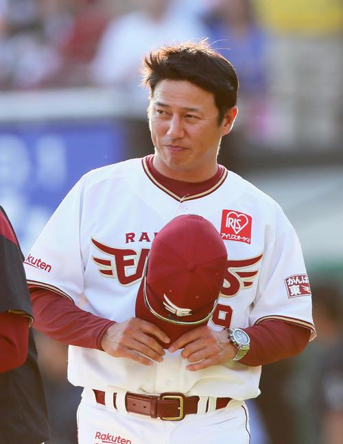楽天平石洋介監督(2019年5月25日撮影)