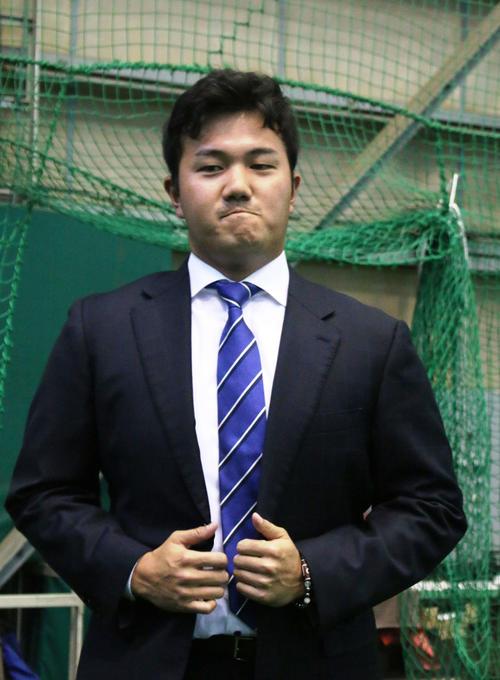 鎌ケ谷で戦力外通告を受けた日本ハム立田(撮影・木下大輔)
