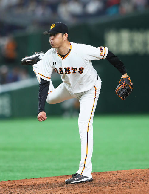 巨人岩隈久志(2019年8月21日撮影)
