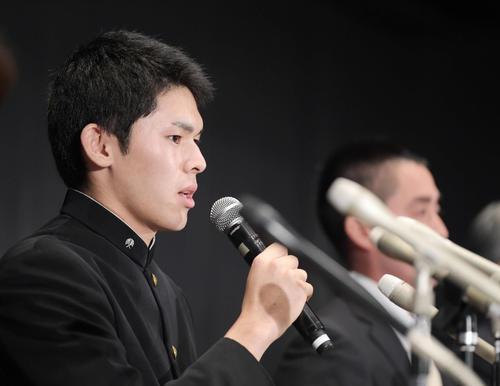 10月2日にプロ志望を表明した佐々木