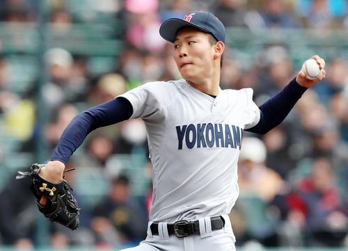 横浜・及川は阪神3位指名「愛される選手目指す」 - プロ野球 : 日刊スポーツ