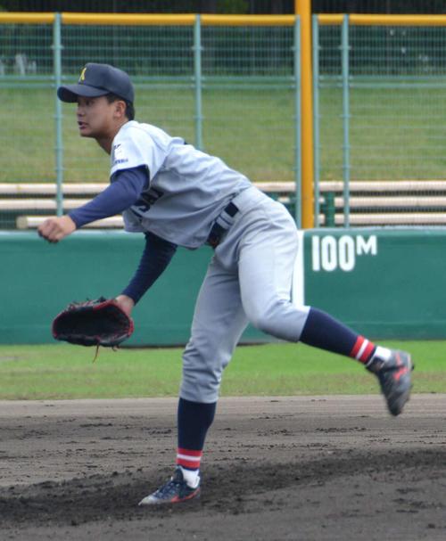 8回無失点と好投した関大・森翔平投手