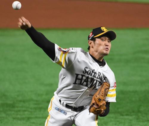ソフトバンク中田賢一(2019年9月5日撮影)