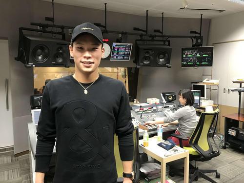 ABCラジオに生出演したオリックス中川圭太内野手(撮影・真柴健)