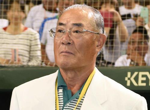 張本勲氏(2015年7月20日撮影)
