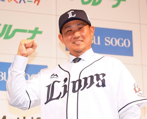 14年ぶりに西武に復帰した松坂大輔(2019年12月11日撮影)