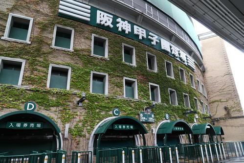 甲子園球場の外観(2017年10月17日)
