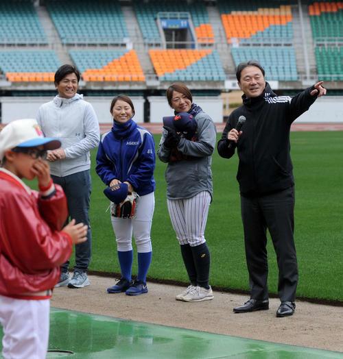 参加した指導陣。左から高橋氏、吉田氏、川端、清宮氏