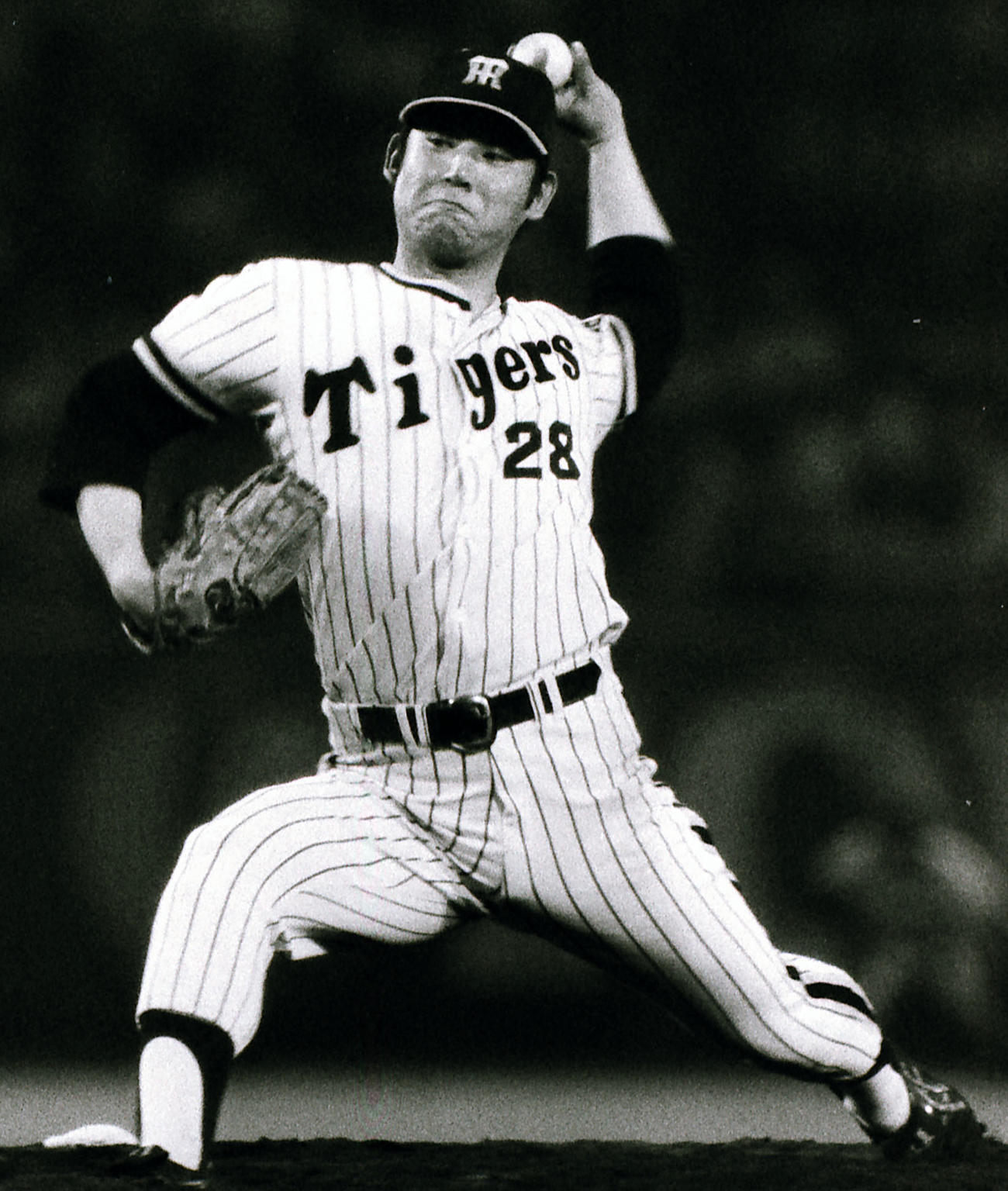 1975年、阪神時代の江夏氏の投球フォーム