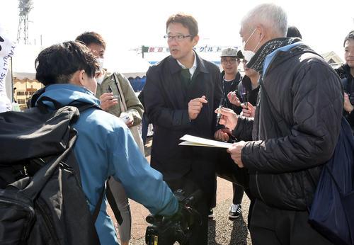 ヤクルトの2軍の視察に訪れた古田敦也氏(撮影・たえ見朱実)