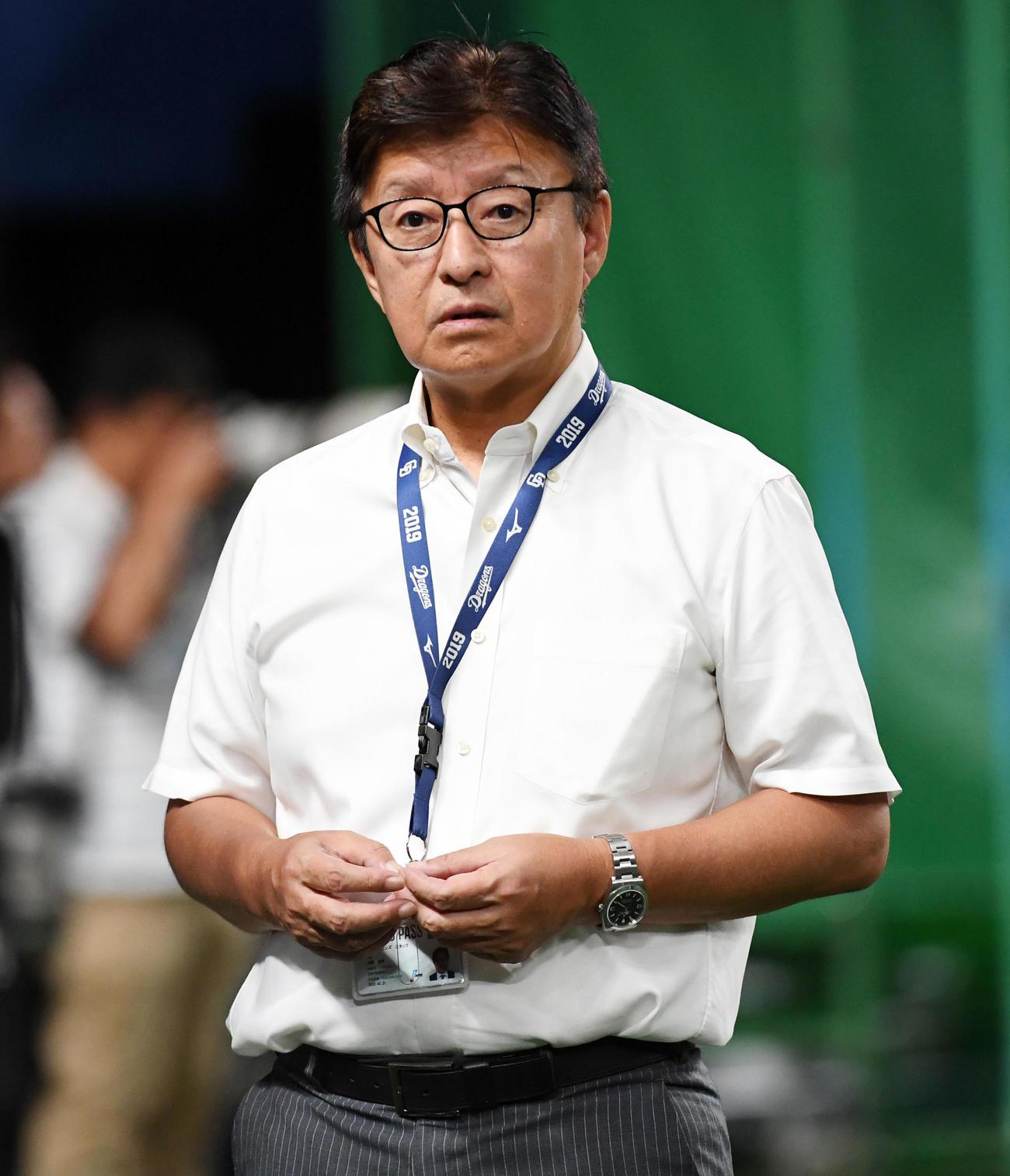 中日の加藤宏幸球団代表