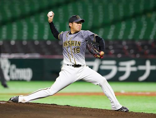 ソフトバンク対阪神 阪神先発の西勇(撮影・前田充)