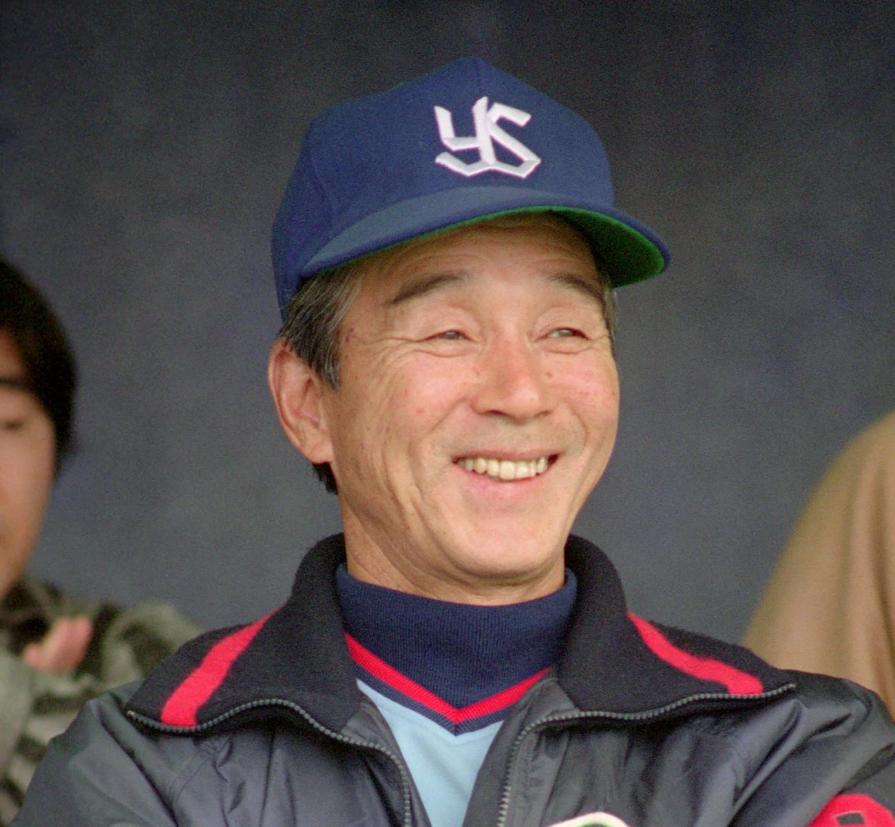 ヤクルト監督時代の関根潤三氏(1989年4月14日撮影)
