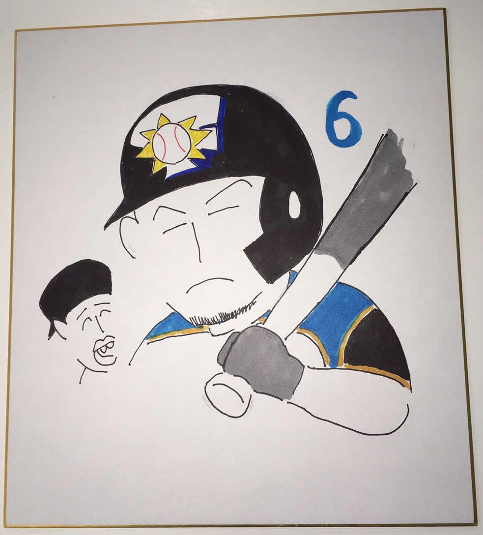 日本ハム木田投手コーチが描いた中田翔内野手