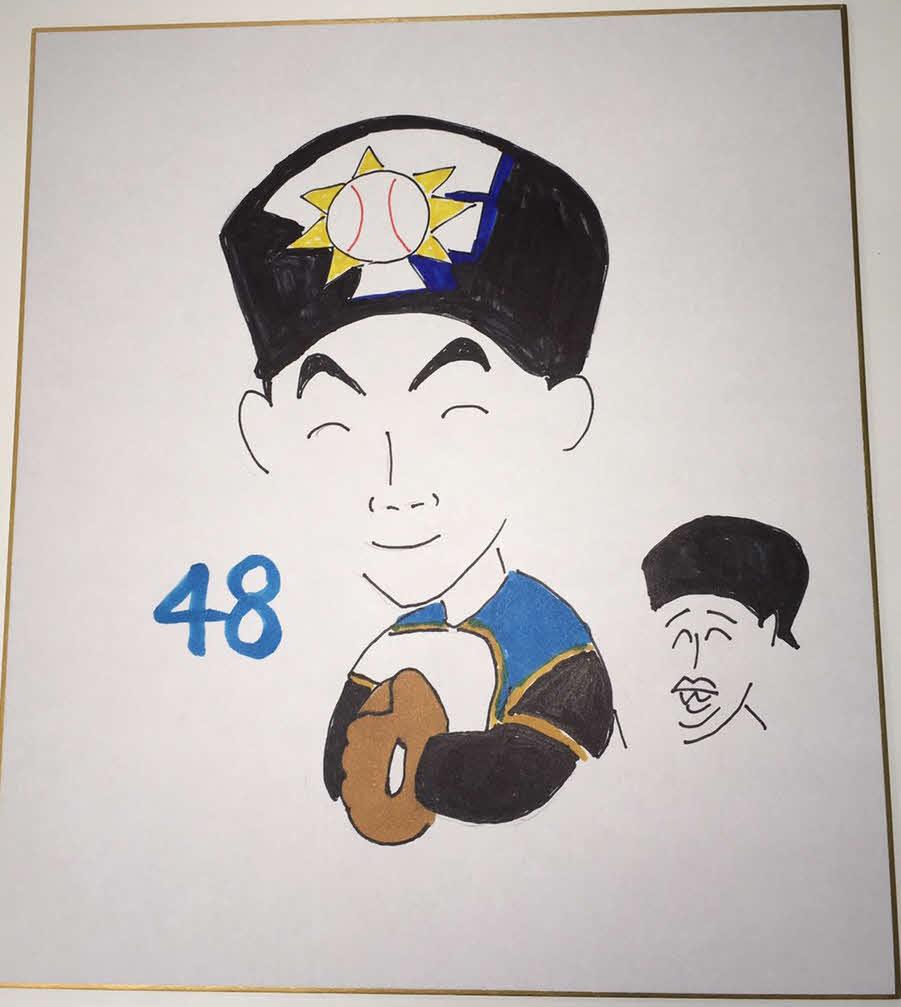日本ハム木田投手コーチが描いた上野響平内野手
