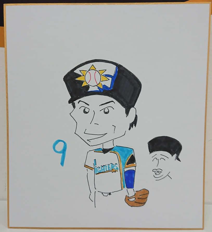 日本ハム木田投手コーチが描いた中島卓也内野手
