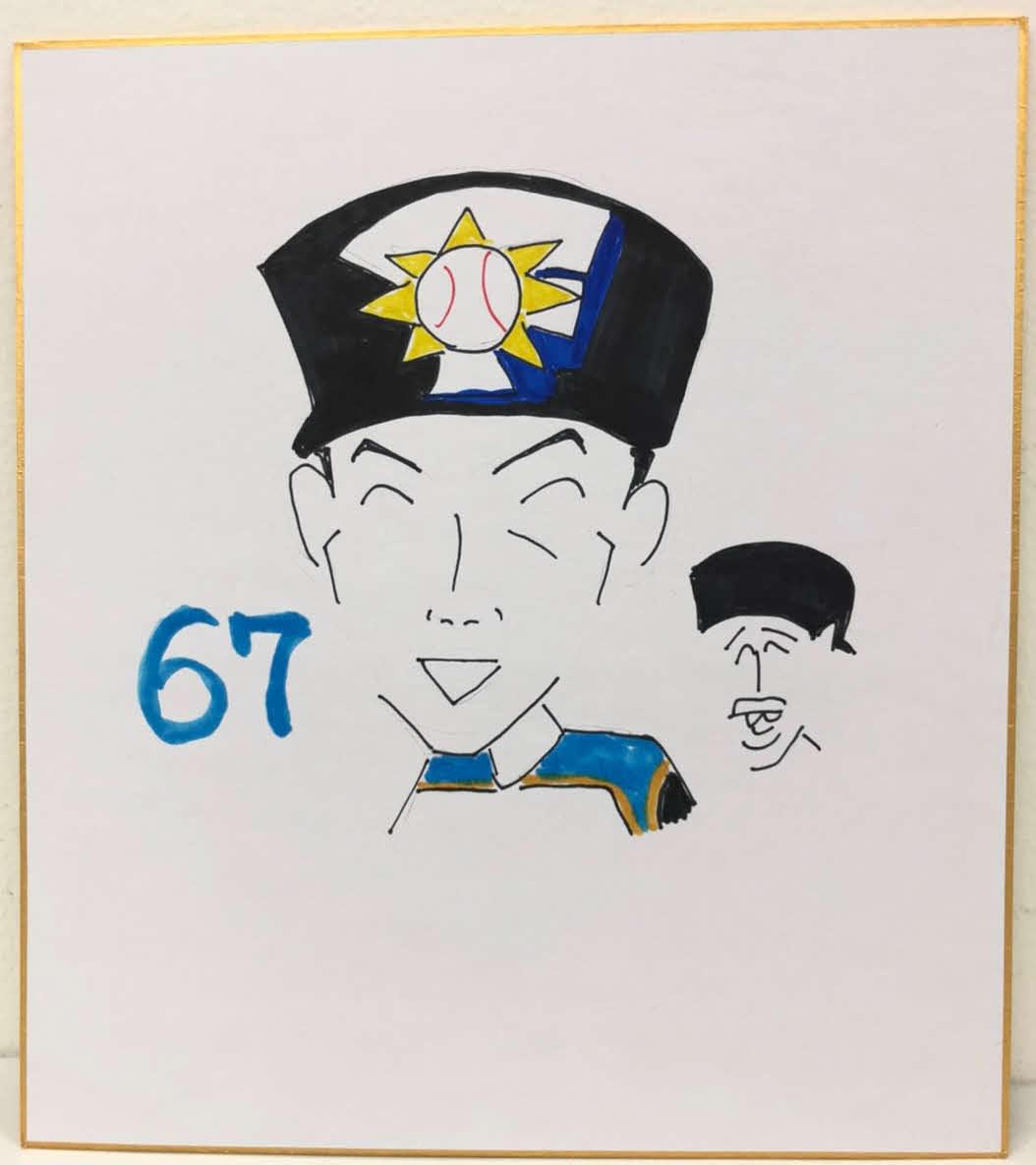 日本ハム木田投手コーチが描いた片岡奨人外野手