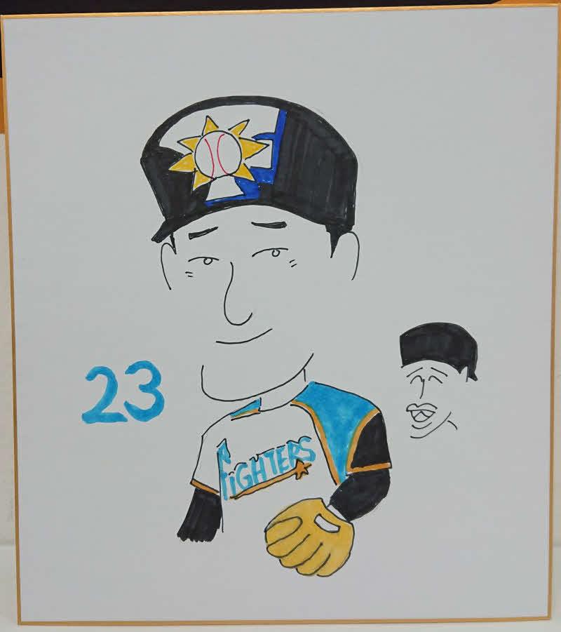 日本ハム木田投手コーチが描いた渡辺諒内野手