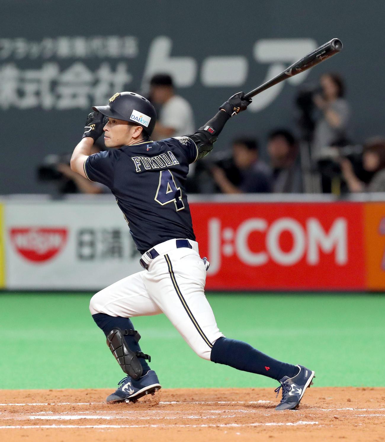 オリックス福田周平(19年9月27日撮影)