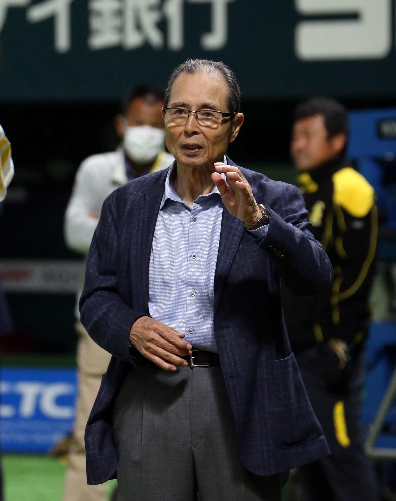 王貞治ソフトバンク球団会長(2020年3月19日撮影)