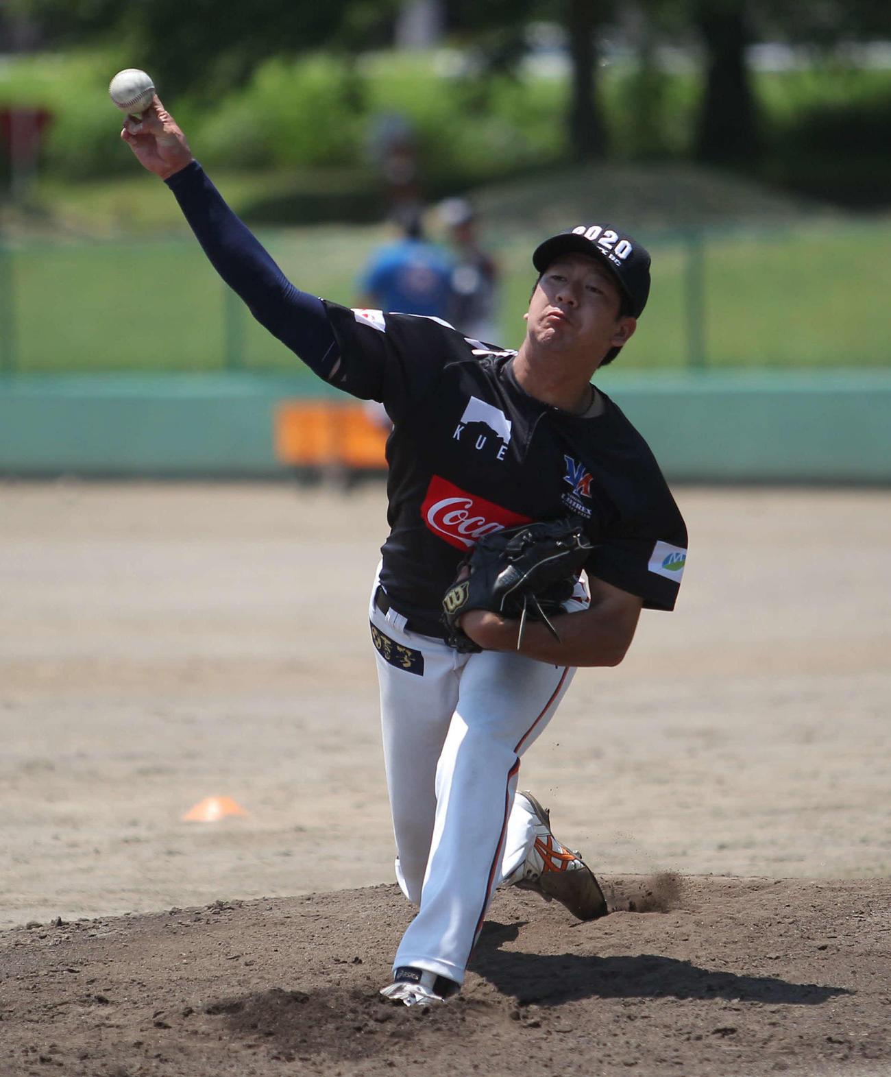 捕手を座らせ21球投げた木原田
