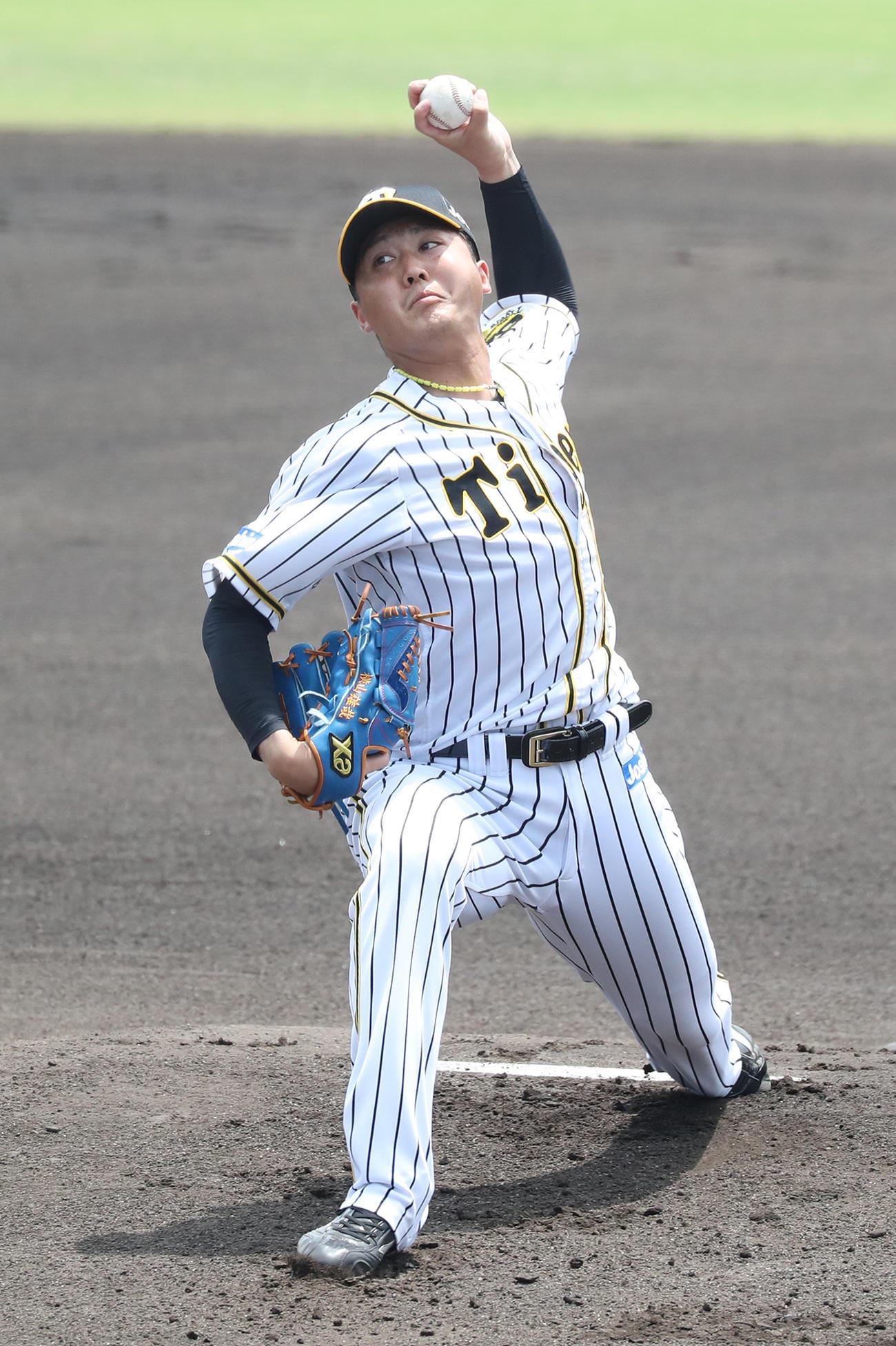 2軍練習試合 阪神-広島 先発の横山は3回を無失点に抑える(代表撮影)