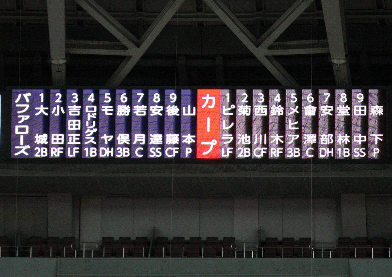 広島 カープ 練習 試合