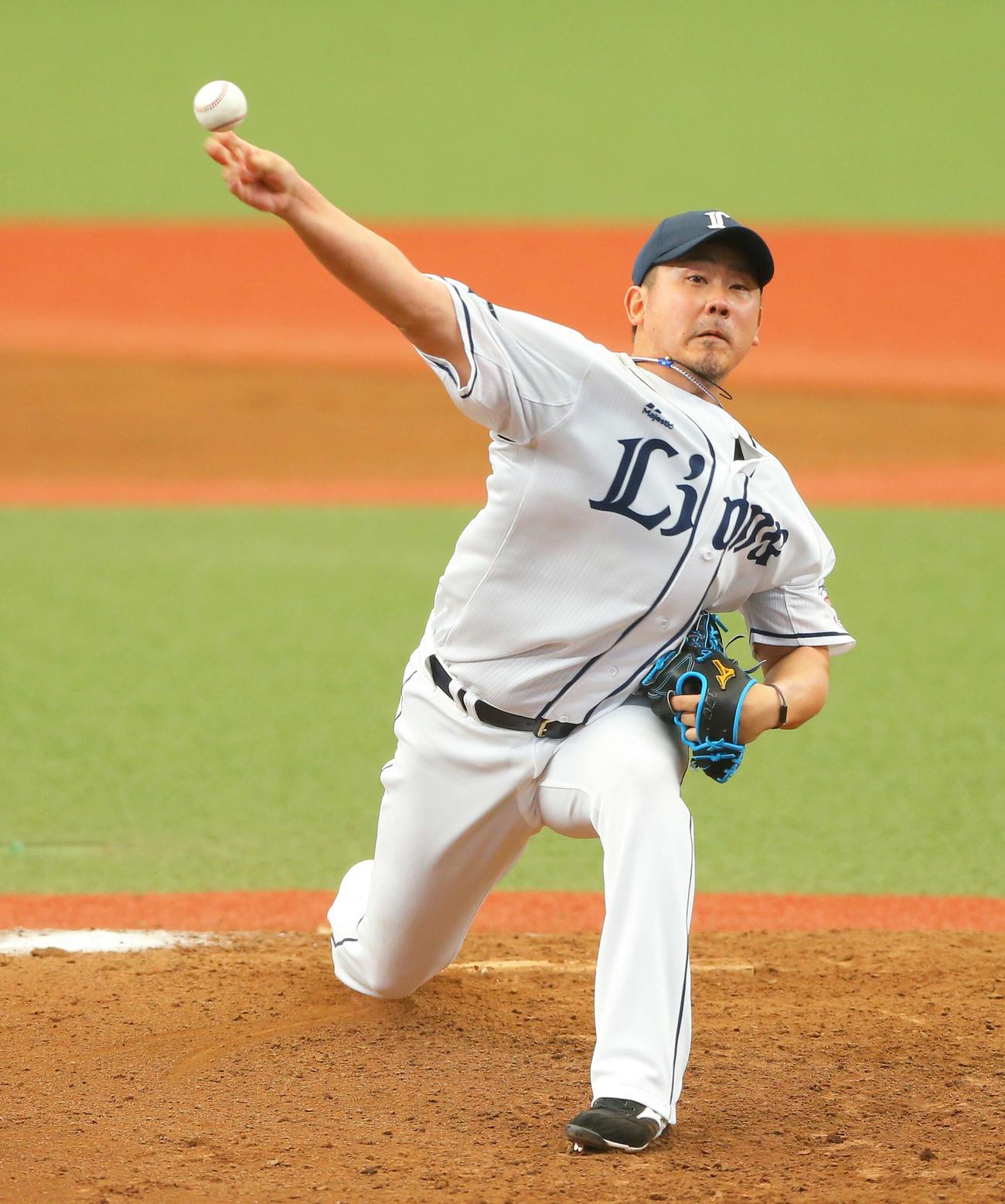 西武対中日 6回表に登板する西武松坂(撮影・河田真司)
