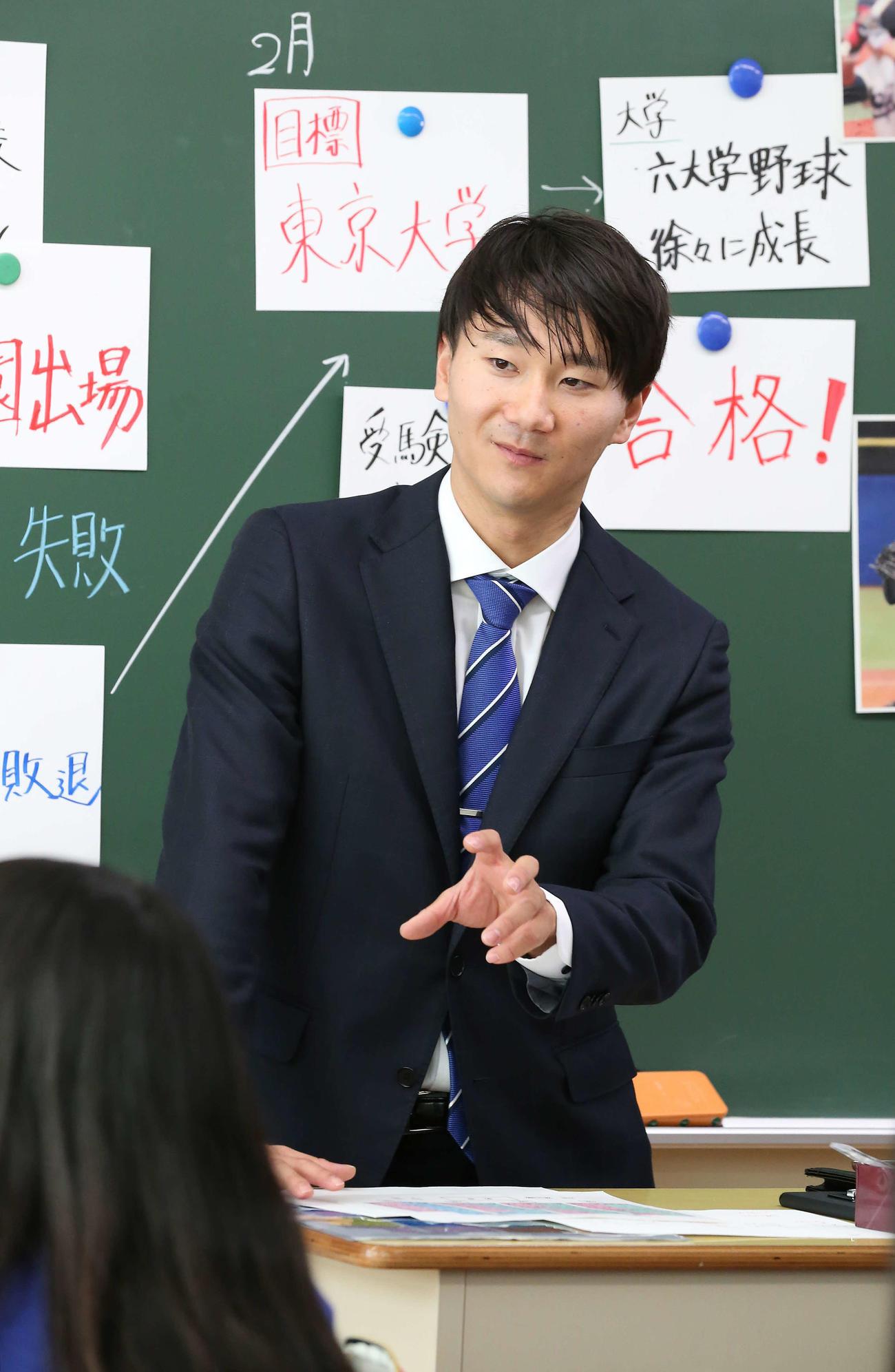 19年12月18日、「こころのプロジェクト 夢の教室」で生徒に自身の経験を話す宮台