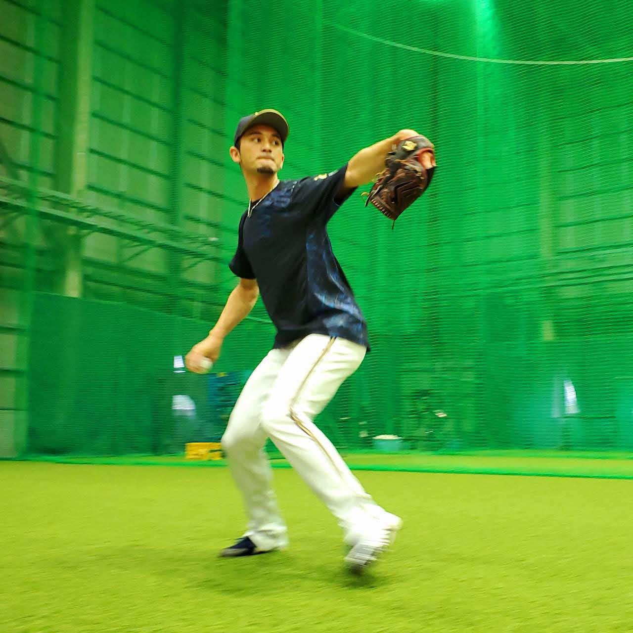 大阪・舞洲の球団施設で調整するオリックス鈴木優投手(球団提供)