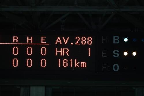 ソフトバンク対楽天 ソフトバンク千賀が1回に161キロを記録(撮影・梅根麻紀)