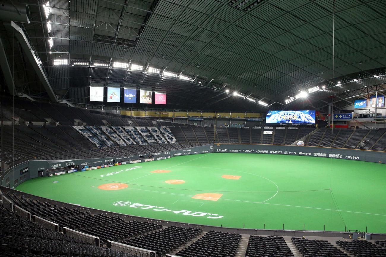 一塁側からの札幌ドーム(2020年7月3日撮影)